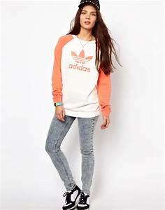 Lyst - Adidas Fun Sweater Logo Sweater in White