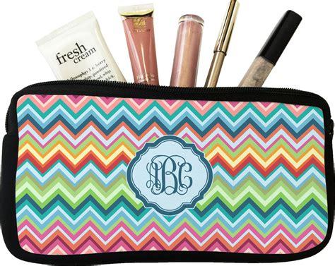 retro chevron monogram makeup cosmetic bag personalized youcustomizeit
