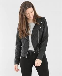 Veste Style Motard Femme : veste style motard noir 326085899a08 pimkie ~ Melissatoandfro.com Idées de Décoration