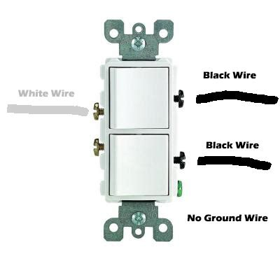 wiring help for leviton 5634 double switch leviton