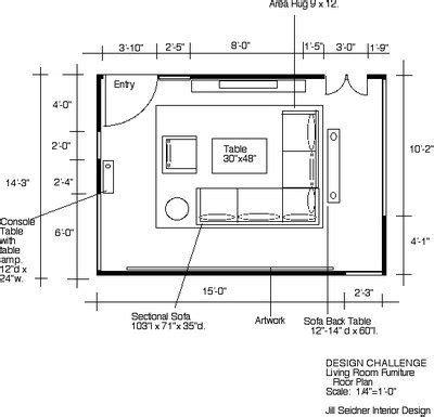 L Shaped Living Room Floor Plans by Seidner Interior Design Winner Design Challenge