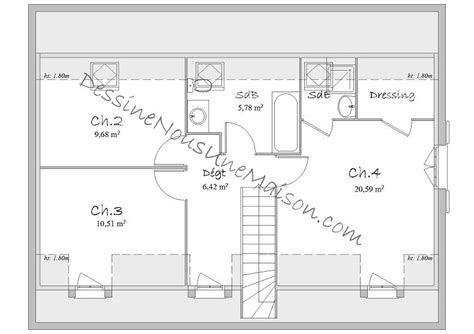 plan maison a etage 3 chambres plan de maison 1 etage 3 chambres