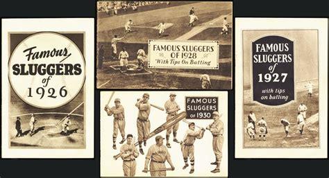 Lot Detail - 1920s Hillerich & Bradsby Famous Sluggers Lot ...