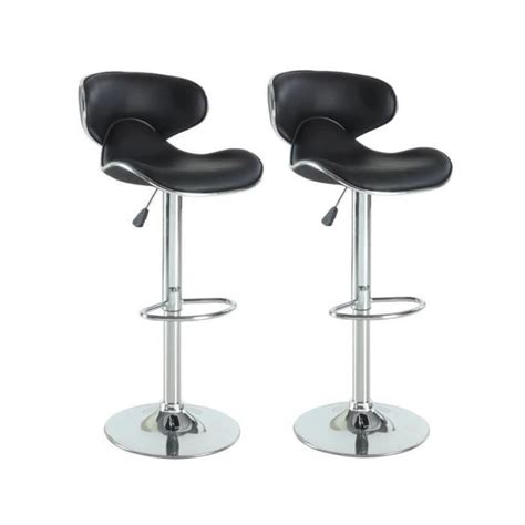 chaise de bar cdiscount york lot de 2 tabourets de bar réglables achat vente