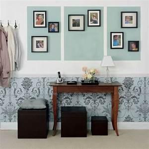 Tapeten Muster Wände : minze farbe wandgestaltung mit farbe und tapeten mit muster wandfarbe farbt ne pinterest ~ Sanjose-hotels-ca.com Haus und Dekorationen