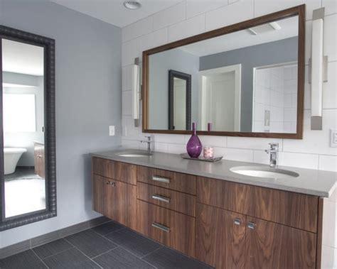 walnut vanity home design ideas pictures remodel  decor