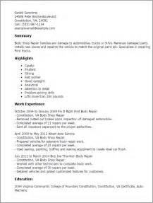 automotive repair resume templates professional shop repair templates to showcase your