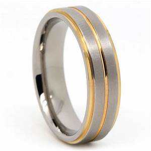 beautiful gold groove design men39s titanium wedding ring With beautiful mens wedding rings