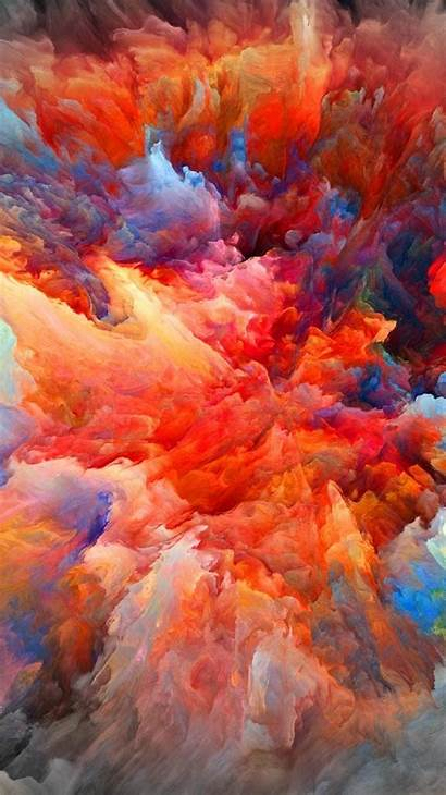 Explosion Iphone Paint Wallpapers Colors Wall Cool