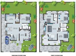 modern bungalow floor plans modern bungalow house design with floor plan terrific
