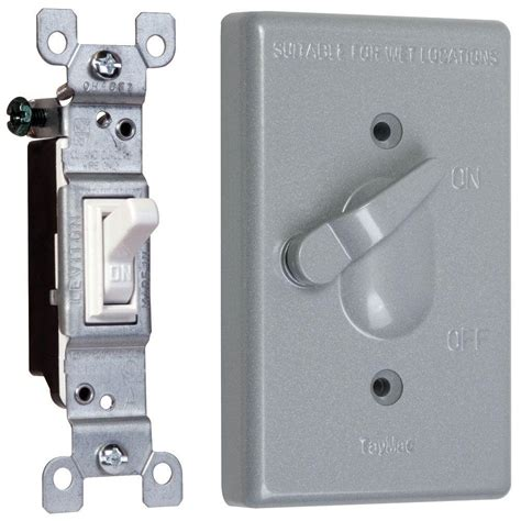 1 weatherproof toggle switch cover combo tc111s the