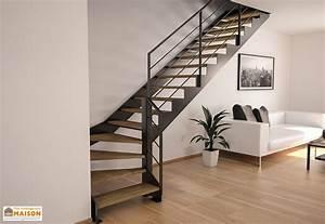 Escalier En Colimaçon Pas Cher : limons tokyo pour escalier quart tournant en acier ~ Premium-room.com Idées de Décoration
