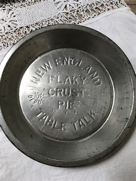 tin pie plates vintage pie plate  england flaky crust pie table talk advertising tin pie
