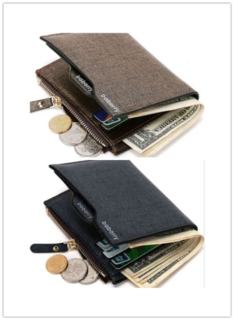 7 card slots, 1 money clip. New Fashion Solid Men Leather Slim Money Clip Front Pocket Wallet Thin Credit Card Holder-in ...