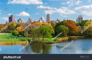New York City Central Park Panorama View In Autumn With ...