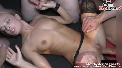 Skinny Teenager Creampie Gangbang Party With Old Man