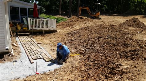 regrading backyard mount airy md backyard regrading renovation damascus