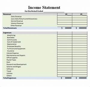 Sample Income Statement Template - 9+ Free Documents in ...