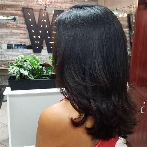 Black Layered Hairstyles For Medium Length Hair by Medium Length Layered Black Hair Medium Length