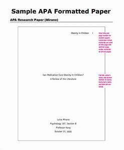 9 sample apa outline templates sample templates With apa template for pages