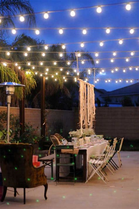 Backyard lighting ideas, outdoor lighting ideas, diy lighting ideas, tiki torches, solar lighting, fence lighting, backyard lighting landscap, patio lights, outdoor party lights, summer night lighting, backyard lighting on a budget, tree the aim is to bring beauty for the backyard. 24 Jaw Dropping Beautiful Yard and Patio String Lighting Ideas For a Small Heaven