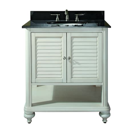 31 inch single sink bathroom vanity with antique white