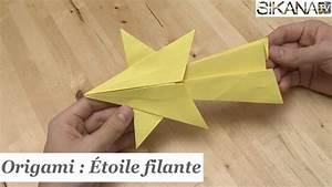 Comment Faire Une étoile En Papier : origami comment faire une toile filante en papier ~ Nature-et-papiers.com Idées de Décoration