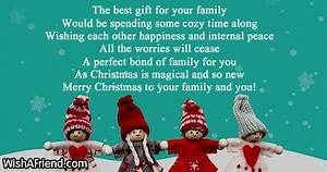 The best t for your family Christmas Message For Family