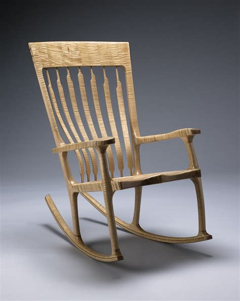Sam Maloof Rocking Chair Kit by In The Studio With Kit Clark Vermont Furniture Maker