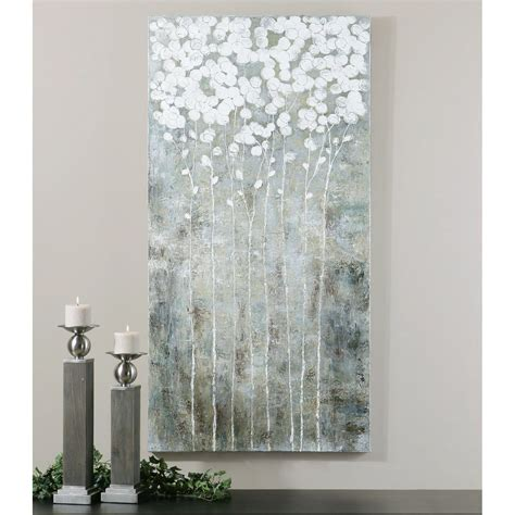 Uttermost Cotton Florals Wall Art  275w X 55h In Wall
