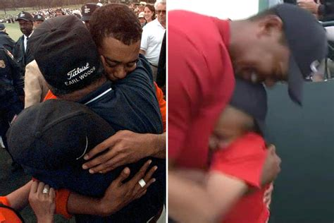 Tiger Woods celebrates Masters win by hugging son Charlie ...