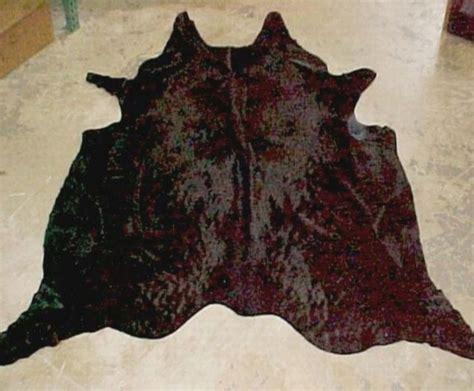 Natural Dyed Solid Brown Cowhide Rug| Black Brown Cowhide Rugs