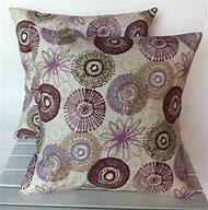 Purple and Grey Throw Pillows