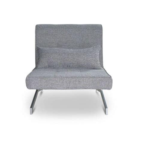 canape bz 1 place fauteuil convertible bz marco 1 place couleur gris achat vente fauteuil tissu 100