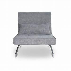 Bz Une Place : fauteuil convertible bz marco 1 place couleur gris achat vente fauteuil tissu 100 ~ Teatrodelosmanantiales.com Idées de Décoration