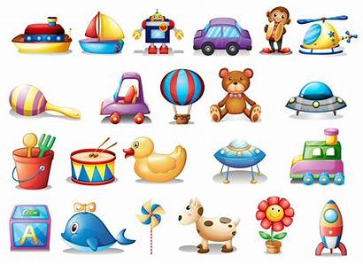 Toys Different Vector Clipart Illustration Background Box