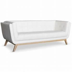 Canape scandinave 3 places design blanc pas cher british for Canapé 3 places pour deco design