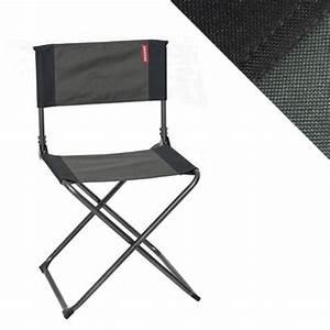 Chaise Camping Pliante : chaise camping pliante noire et grise trigano camping ~ Melissatoandfro.com Idées de Décoration
