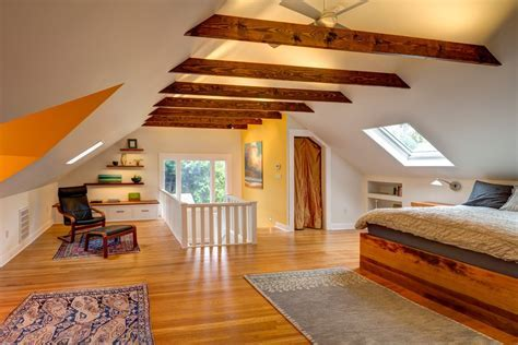 portland exposed beam ceiling photos bedroom transitional