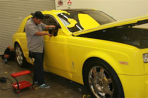 color change vehicle wrap   rolls royce phantom