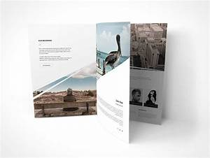 standing portrait mode three page brochure psd mockup With three page brochure template