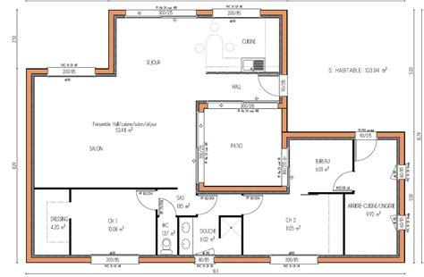 plan maison avec patio plan maison maison