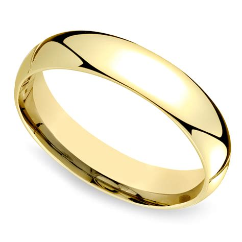 mid weight men s wedding ring in yellow gold 5mm