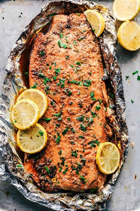 salmon sugar garlic brown recipe glazed