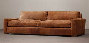 restoration hardware leather sofa for sale rooms