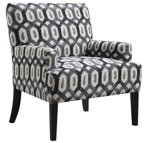 grey geometric pattern accent chair from coaster
