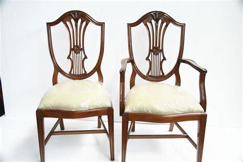 mahogany dining chairs shield back dining chairs ebay