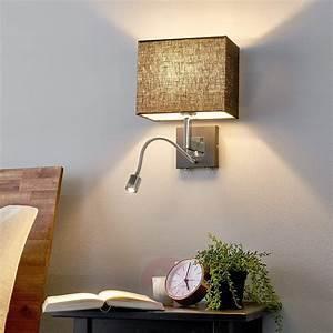 Stoff Auf Rechnung : stoff wandlampe rebekka mit zus tzlichem leselicht perfekt f r das schlafzimmer ~ Themetempest.com Abrechnung