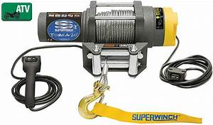 Amazon Com  Superwinch 1125220 Terra 25 2500lb Winch With