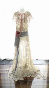 edwardian style wedding dress upcycled vintage crochet lace With edwardian style wedding dresses